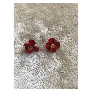Anthropologie Flower earrings